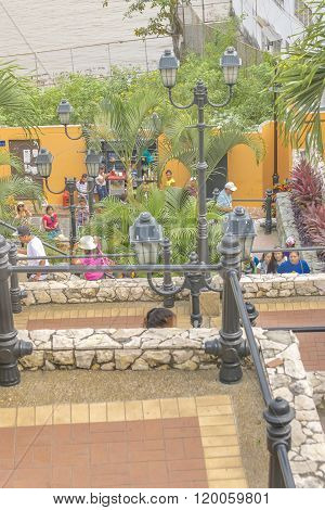Las Peñas Neighborhood In Guayaquil Ecuador