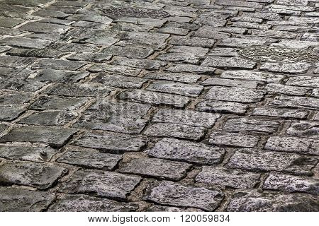 Cobblestone Street Detail View