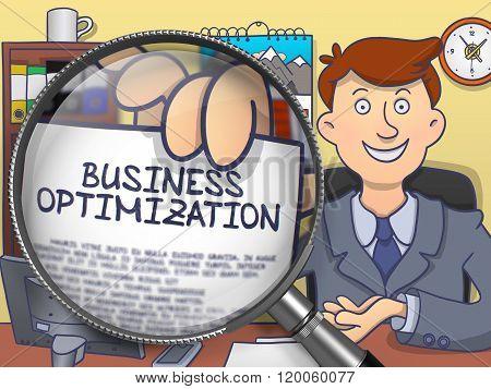 Business Optimization through Lens. Doodle Style.