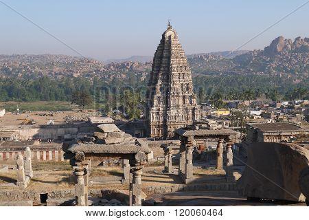 The operating Virupaksha's temple