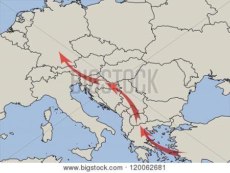 Balkan migrant route