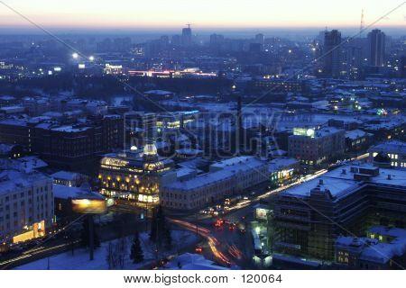 Russia. Urals. Night Yekaterinburg