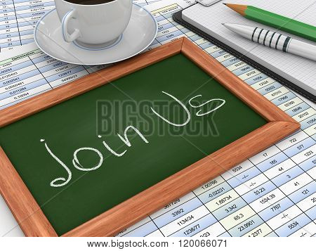 Blackboard with Join Us
