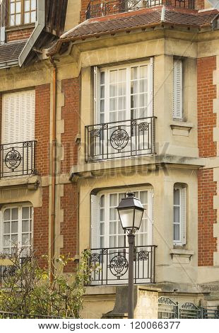 The Beautiful House In Montmartre Quarter.