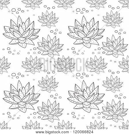 Pattern With Succulent Plants