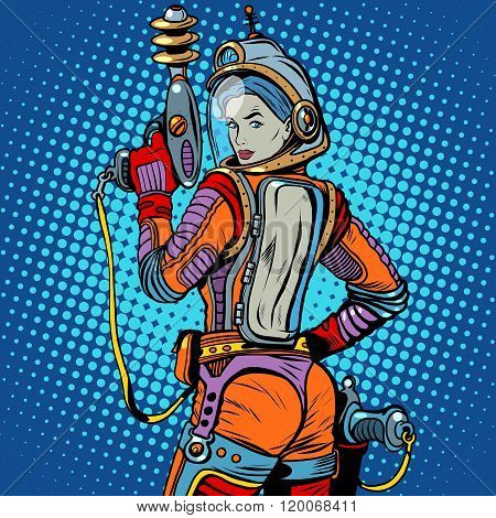 Girl space marine science fiction retro