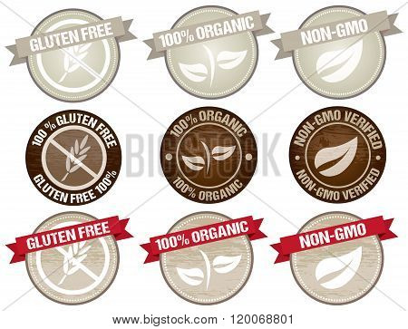 Food Label vectors