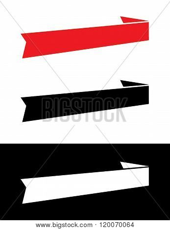 Vector banner and headliner set in Colour, Black and Reverse