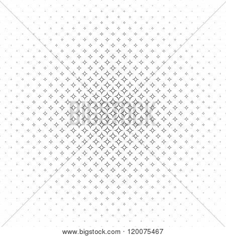 Repeat monochromatic vector star pattern