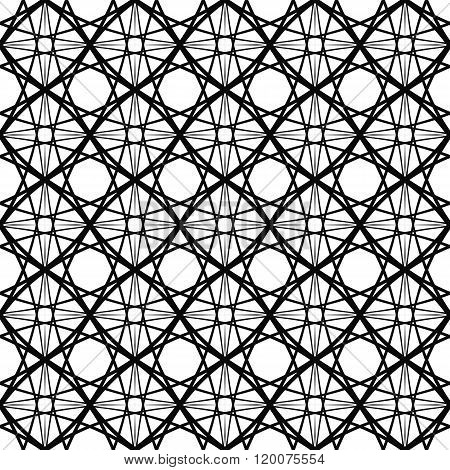 Repeat monochromatic vector curved pattern design