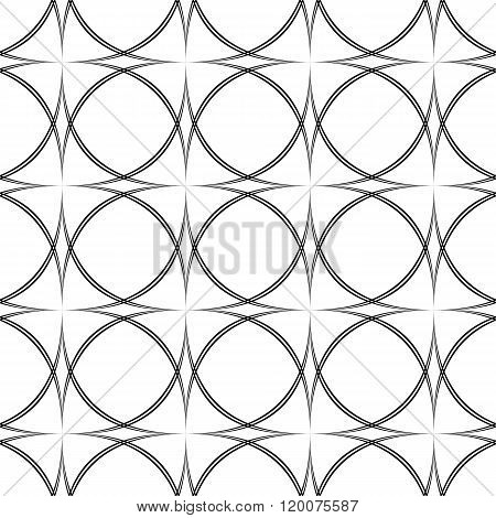 Repeating monochromatic vector curved pattern