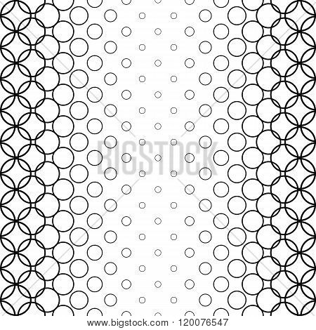 Repeat monochromatic abstract circle pattern