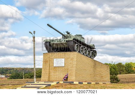 Tank T55 - Monument to tankists-liberators of Valuyki. Russia