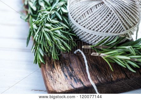 Garden Fresh Herbs Preparation For Drying