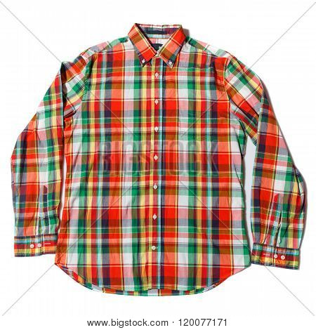 Colorful checked shirt
