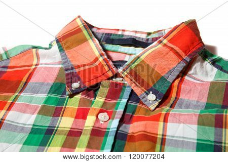 Colorful shirt collar