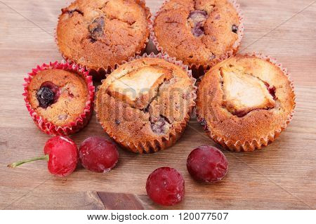 Muffins On A Table