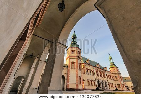 Bishops Palace, Kielce, Poland In Sunset Light.