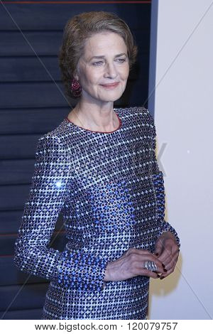 BEVERLY HILLS - FEB 28: Charlotte Rampling at the 2016 Vanity Fair Oscar Party on February 28, 2016 in Beverly Hills, California