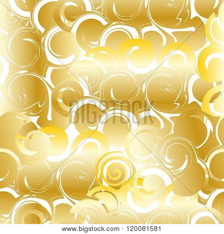 Pattern abstract golden curls