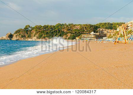 Lloret de mar. City Beach.