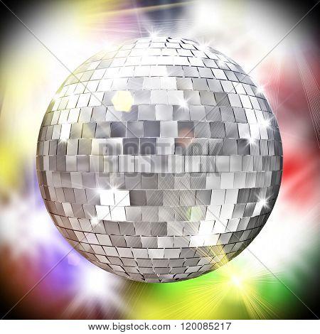 disco mirror ball 3d image