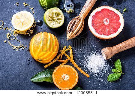 Citrus Fruits For Summer Refreshing Lemonade