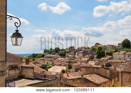 Picturesque Rooftops Of Saint-emilion, France