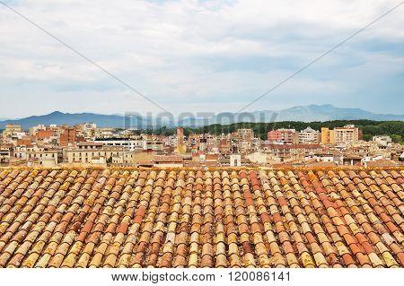 Tiled Rooftops Of Girona, Catalonia