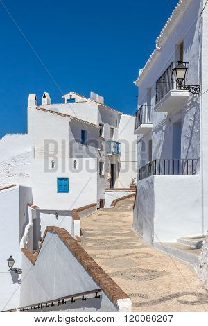 Traditional Andalusian White Houses Under Blue Sky
