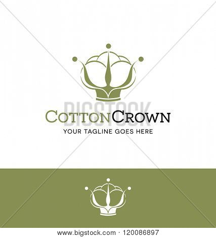 cotton logo for business, organization or website