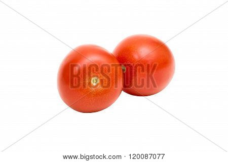 Red tomato, Isolated on a white background