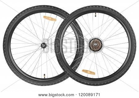 Pair Wheels For Mountain Bike