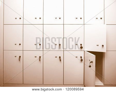 Lockers Picture Vintage
