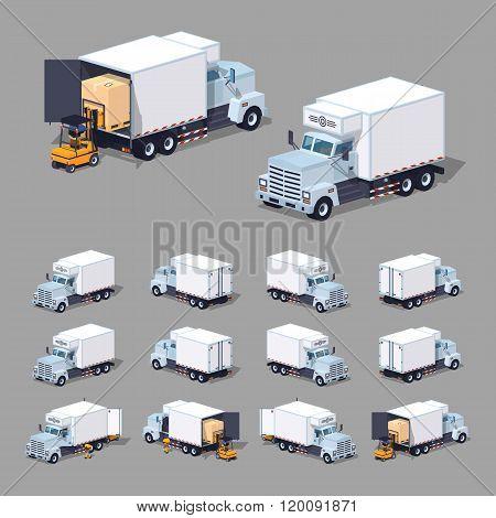 White truck refrigerator