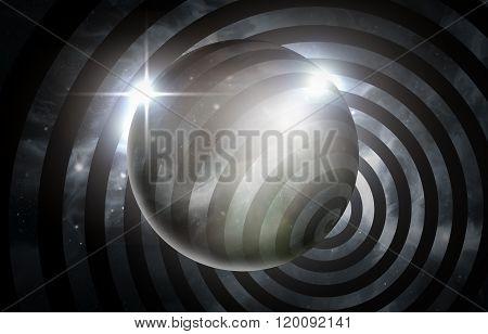 Psychedelic hypnosis swirl universe starscape optical illusion illustration