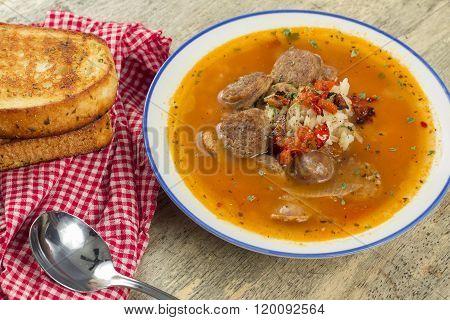 Sausage Rice Tomato Soup