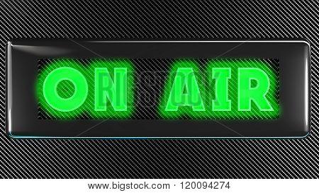 onair green sign