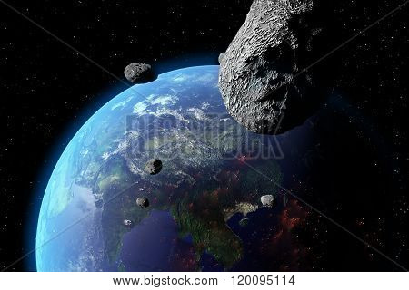 Asteroid Nears Earth