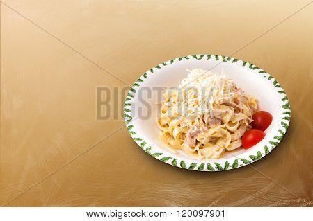 Carbonara Pasta with tomatoes
