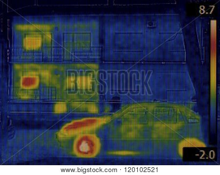 Thermal Image of two Houses