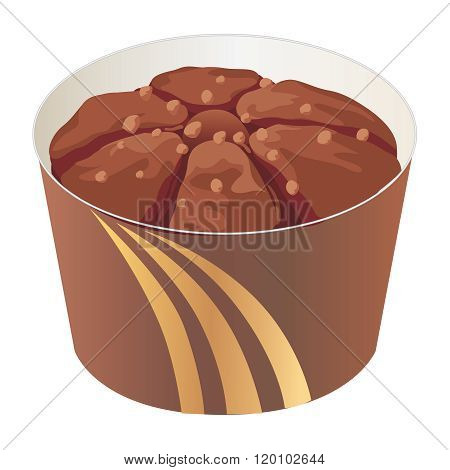 Vector Tasty Chocolate Cupcake Illustration