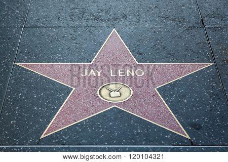 Jay Leno Hollywood Star