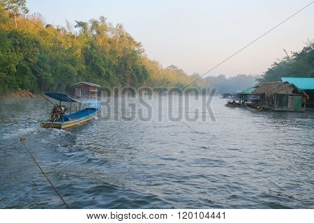 River Kwai In Thailand.