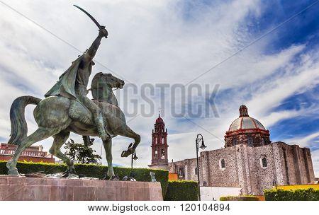 General Ignacio Allende Statue Plaza Civica San Miguel De Allende Mexico