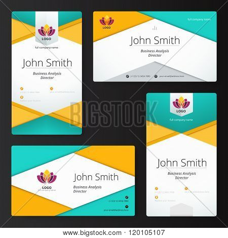 Abstract Material Business Card Style. Vector Illustration.
