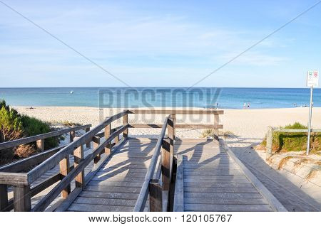 Wooden Boardwalk to Bunker Bay