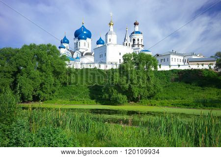 Orthodoxy monastery at Bogolyubovo in summer day. Russia