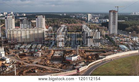 Minsk, Belarus: construction of multi-stored houses