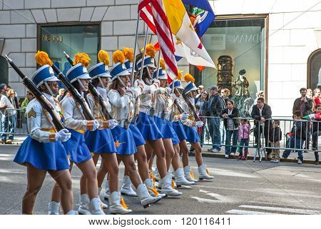 New York U.S.A. - October 10 2010: Manhattan 5th avenue, the parade of the Hispanic Comunity